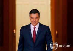 El presidente en funciones, Pedro Sánchez, en el Palacio de la Moncloa, en Madrid, España, el 7 de mayo de 2019.