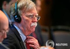 El asesor de seguridad nacional de Estados Unidos, John Bolton, asiste a una cumbre para discutir la crisis política de Venezuela, en Lima. 6 de agosto de 2019.