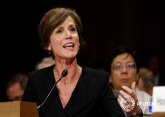 Imagen de archivo de la ex Fiscal General internina de Estados Unidos Sally Yates durante una audiencia en el Capitolio en Washington