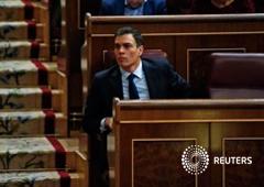 El líder socialista Pedro Sánchez en el Congreso en Madrid, 6 de abril de 2016