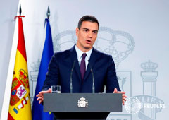 El presidente de España, Pedro Sánchez, durante una rueda de prensa tras una reunión extraordinaria del consejo de ministros en Madrid, España, el 15 de febrero de 2019