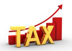 Gráfico ascendente y la palabra TAX