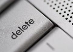 Tecla con la palabra delete