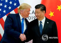 El presidente de Estados Unidos, Donald Trump, se reúne con el presidente chino Xi Jinping en Osaka, Japón, el 29 de junio de 2019.