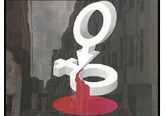 El símbolo que identifica al género masculino daña al símbolo que identifica al género femenino.