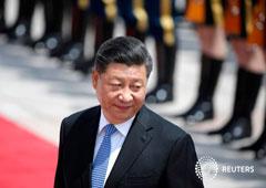 El presidente chino Xi Jinping asiste a la ceremonia de bienvenida del presidente griego Prokopis Pavlopoulos frente al Gran Salón del Pueblo, en Pekín, China, el 14 de mayo de 2019.