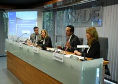 De izda. a dcha.: Miguel Verger, Eugenia Navarro, Almudena Rodríguez y Fernando Bazán