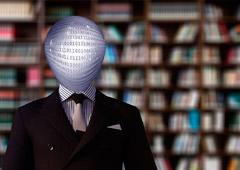 Persona con cabeza de números