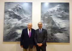 Isidre Bohigas, presidente de Piramidón, Centre d'Art Contemporani (izquierda) y a Jordi Rovira, CEO de AGM Abogados (derecha)