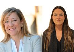 De izda. a dcha.: Neus Lloveras y Elena Escura