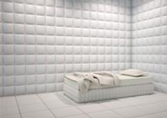 Celda de aislamiento en un centro penitenciario