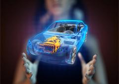 Imagen de una maqueta de coche del futuro
