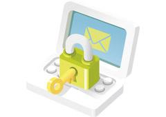 sobre de email y candado