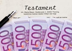 Testamento y billetes de 500 euros