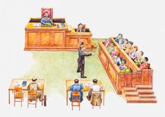 Dibujo de un juicio