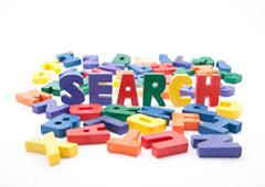 Palaba SEARCH con letras de colorex