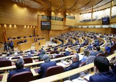 Pleno semanal en el Senado