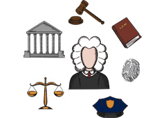 Ley, juez e iconos de justicia