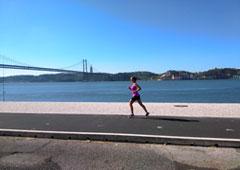 Una persona haciendo running