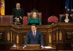 Pedro Sánchez en el Congreo de los Diputados