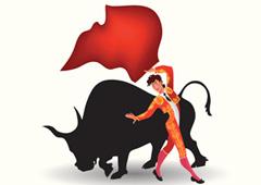 Dibujo de un torero y un toro