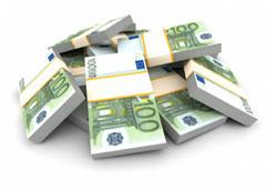Fajos de billetes de cien euros