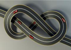 Un nudo formado por una carretera