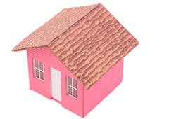 Una casita rosa
