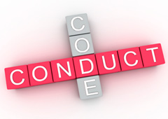 Palabras code conduct