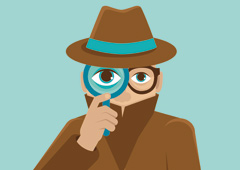 Dibujo de un espía