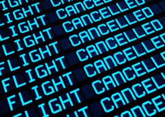 Palabras flight cancelled