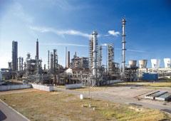 Una industria petroquímica