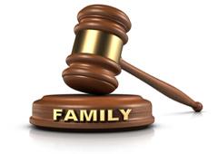 Una maza con la palabra family escrita