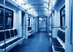 Interior de un vagón de metro